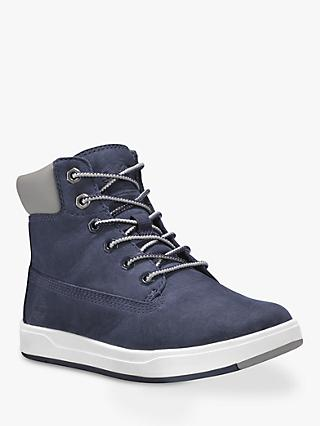 Timberland Children's Davis Square 6 Inch Boots, Navy