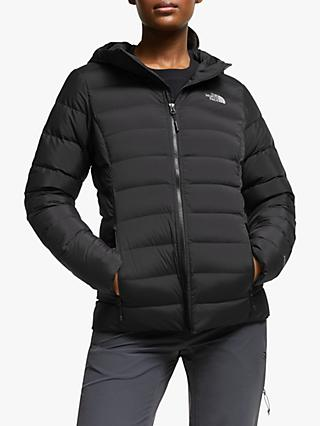 The North Face Stretch Down Hooded Jacket, TNF Black