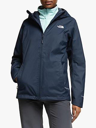 The North Face Quest 3-in-1 Women's Waterproof Jacket, Urban Navy/Windmill Blue