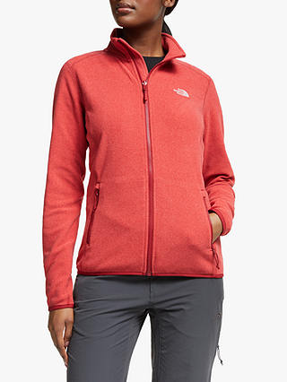 Buy The North Face 100 Glacier Full Zip Women's Fleece, Cardinal Red, S Online at johnlewis.com