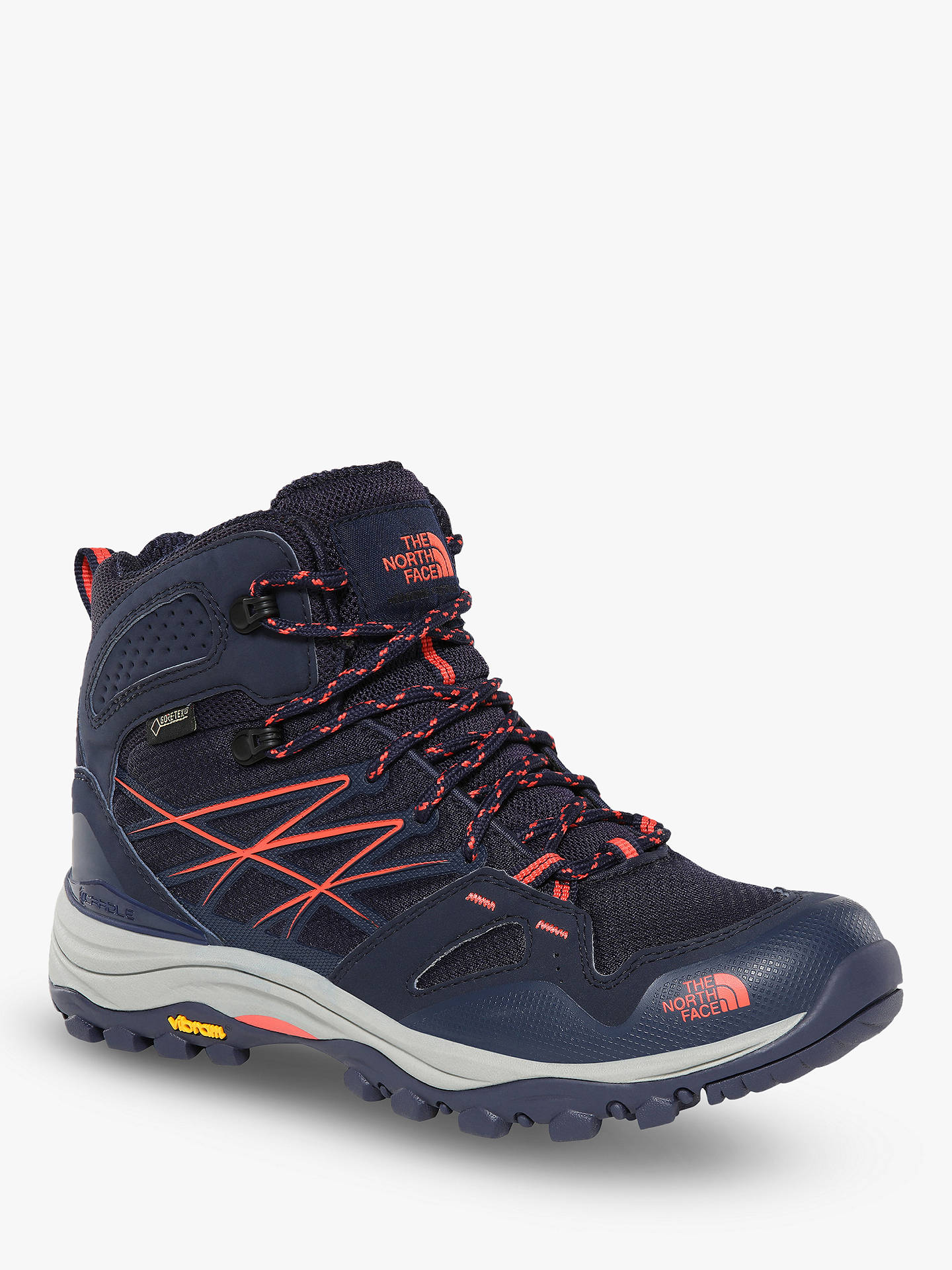new arrival cda47 e3b31 The North Face Hedgehog Fastpack Mid Women's Waterproof Gore-Tex Hiking  Boots, Peacoat Navy/Radiant Orange