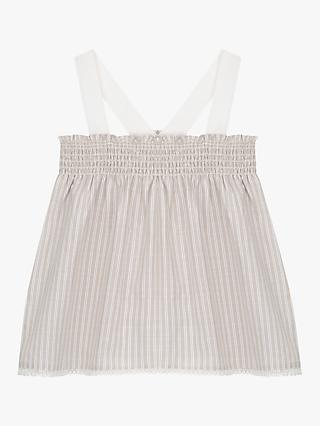 Mintie by Mint Velvet Girls' Smocked Camisole Top, Neutral