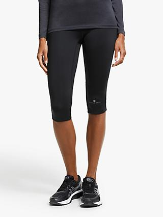 Ronhill Stride Stretch Capri Running Tights, All Black