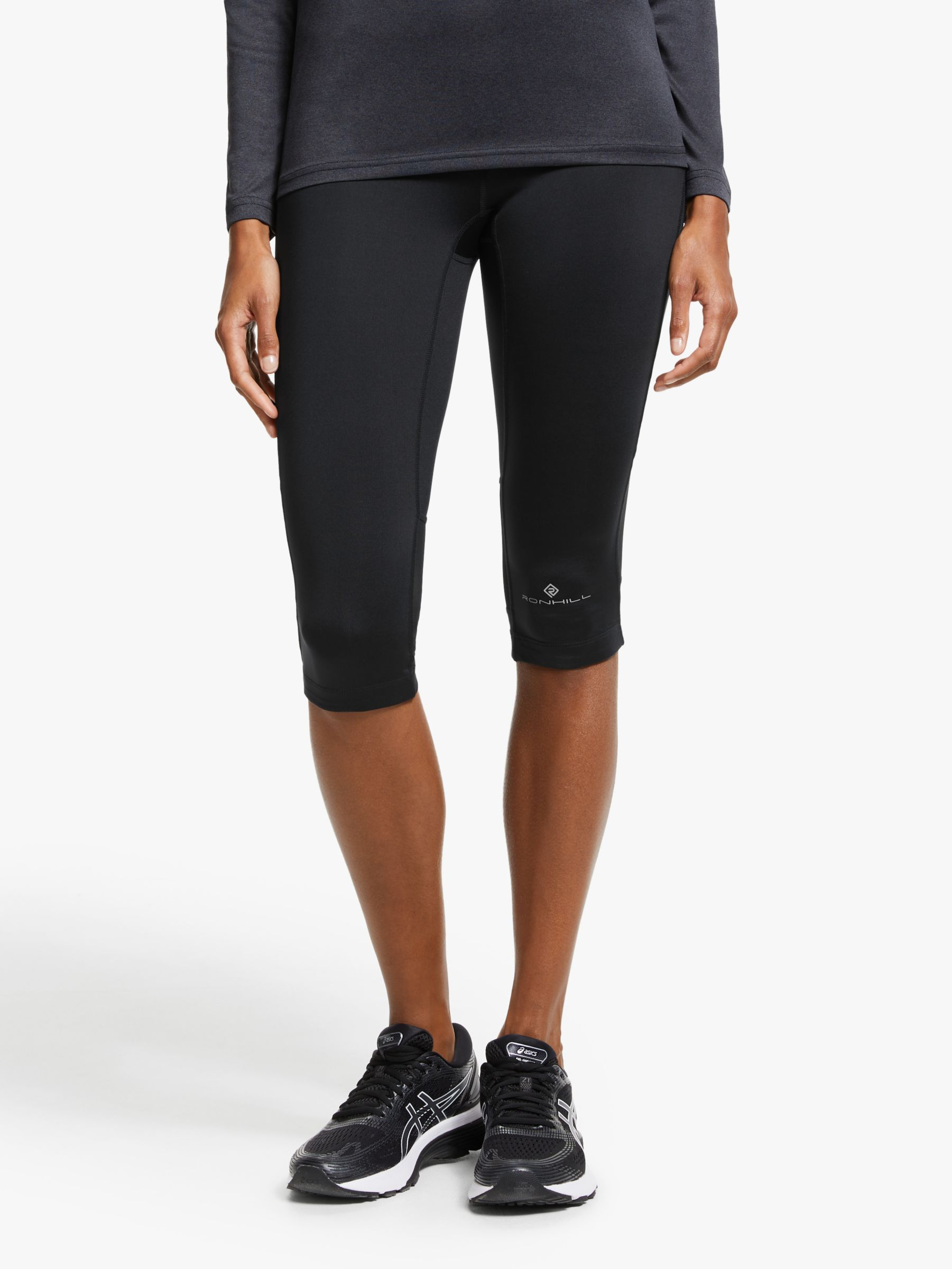Ronhill Ronhill Stride Stretch Capri Running Tights, All Black