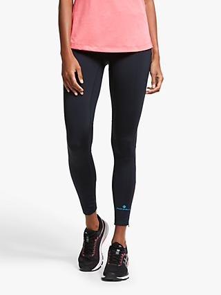 Ronhill Stride Stretch Running Tights, Black/Hot Pink