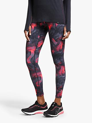 Ronhill Momentum Running Tights, Hot Pink Wave