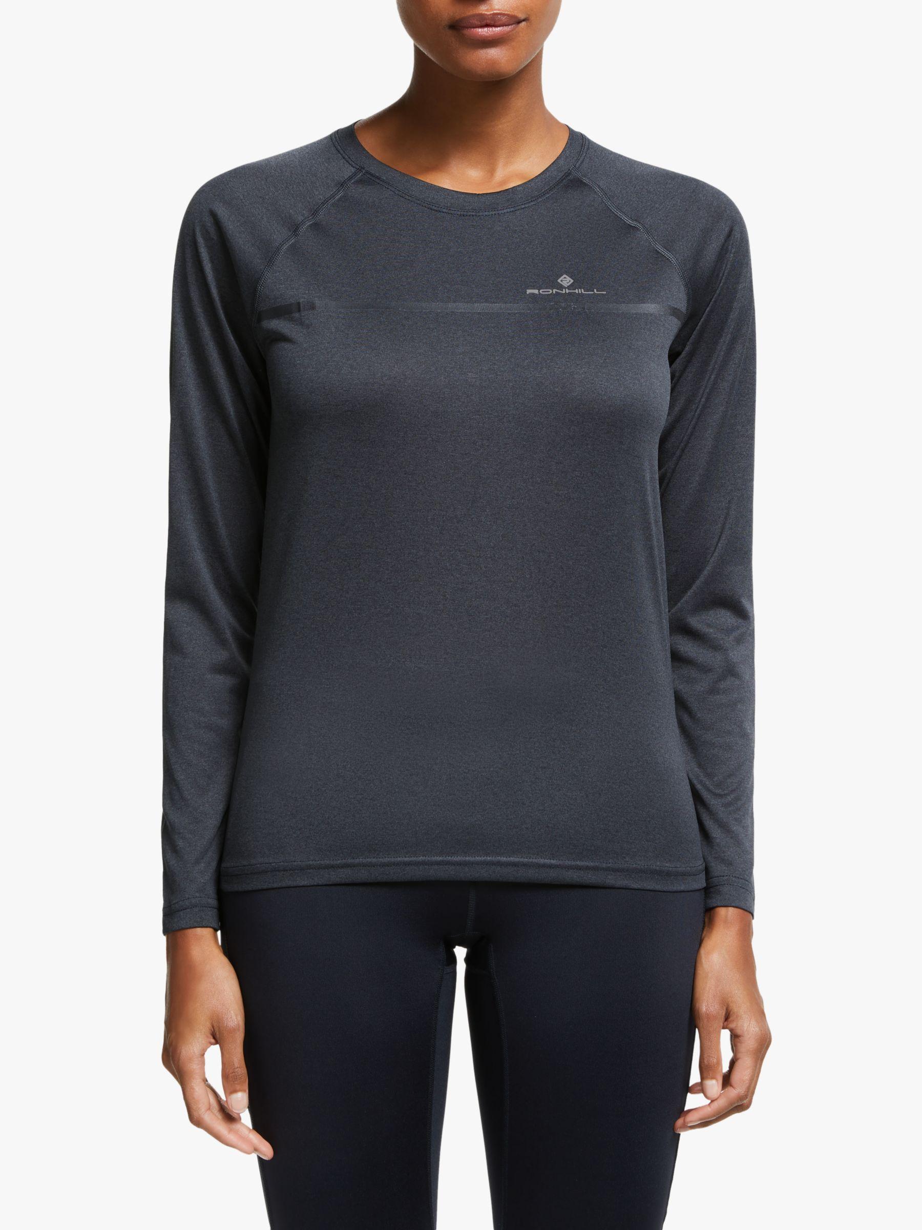 Grey Ronhill Everyday Long Sleeve Womens Running Top