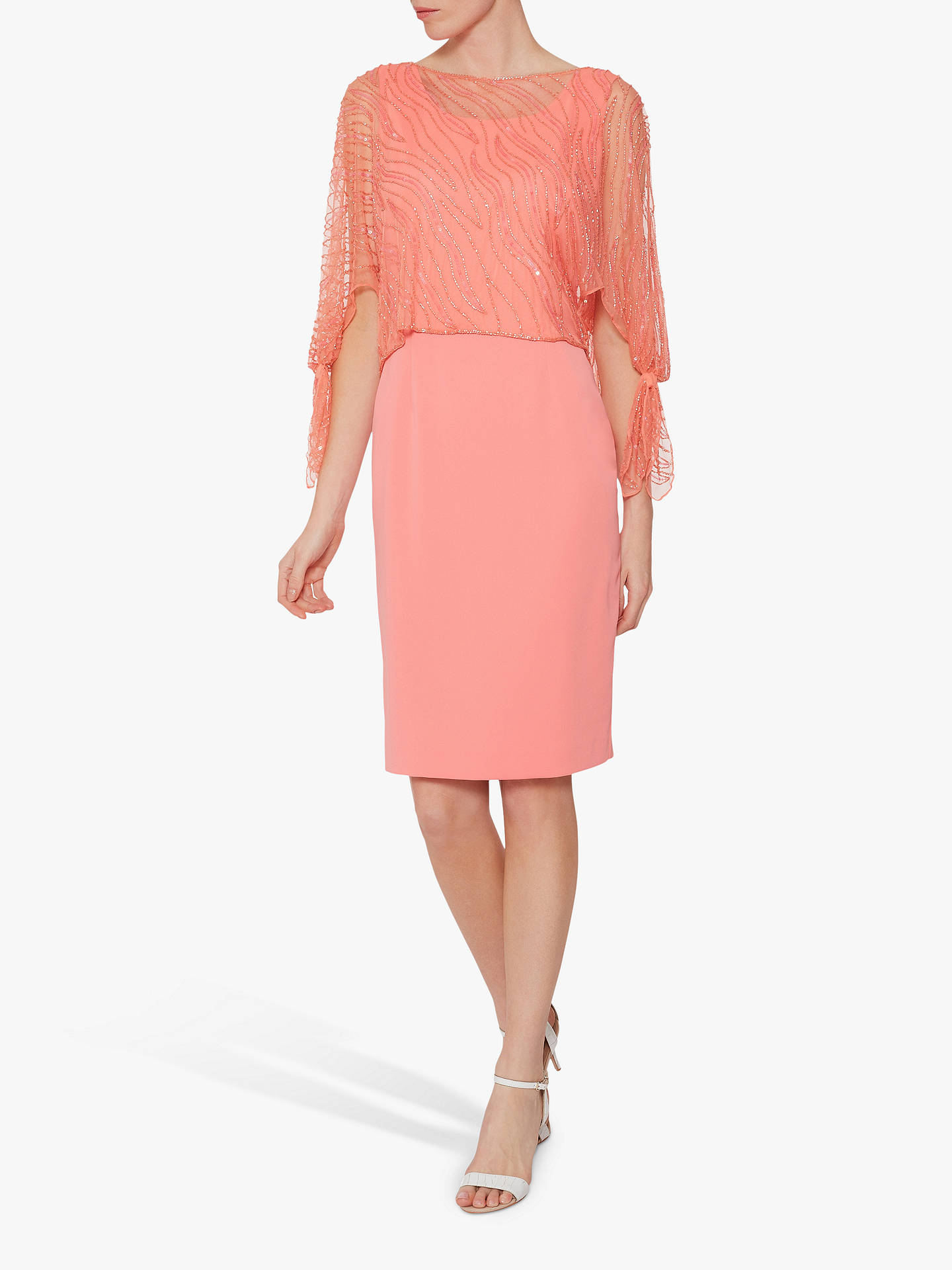 Buy Gina Bacconi Jazz Sequin Overtop Tailored Dress, Dahlia, 8 Online at johnlewis.com