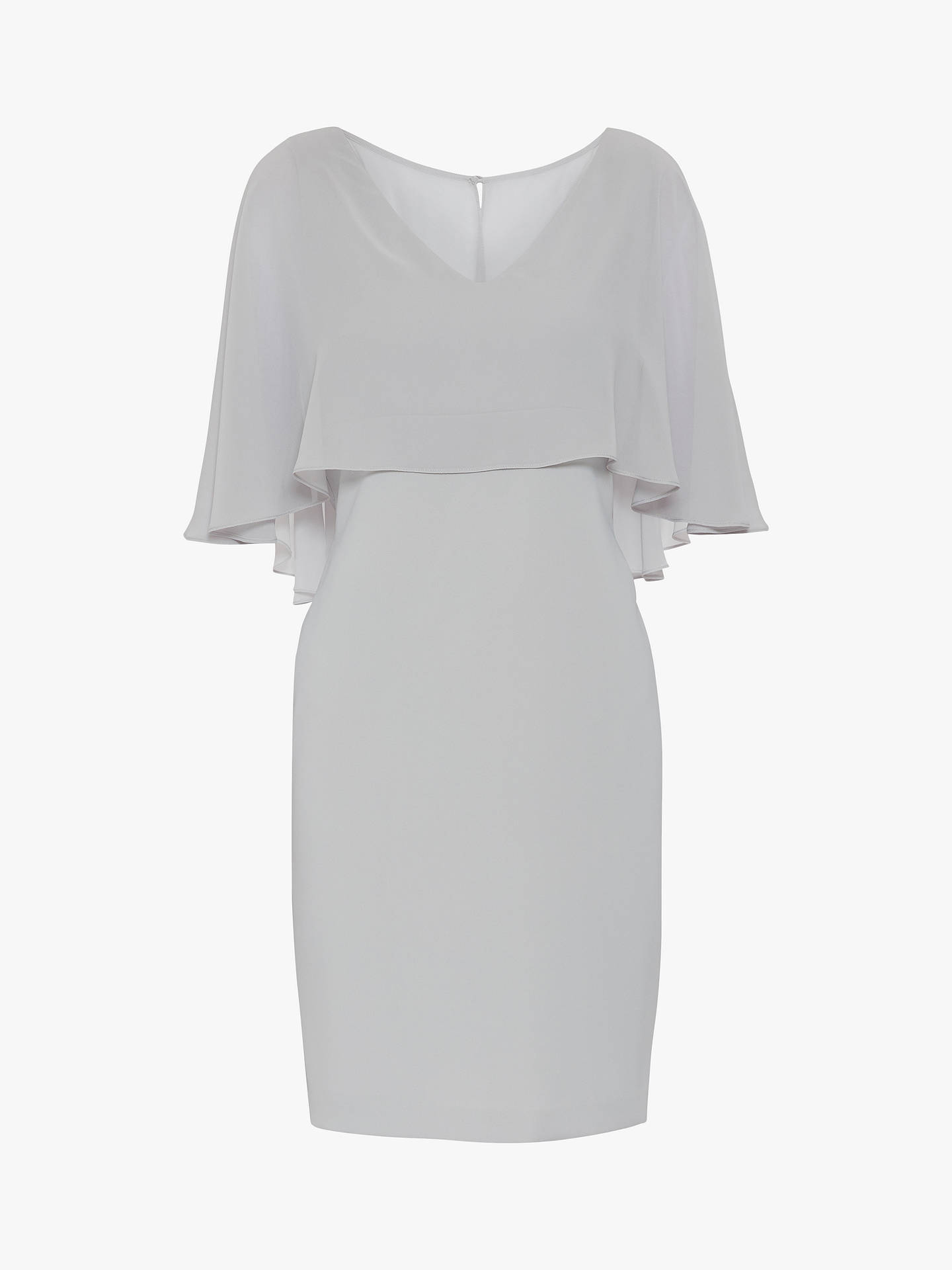 Buy Gina Bacconi Adele Moss Crop Chiffon Dress, Silver Mist, 8 Online at johnlewis.com