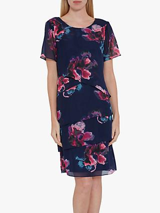 24837a78d5 Gina Bacconi Peggy Floral Chiffon Dress