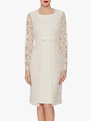 Gina Bacconi Summer Crepe Lace Dress