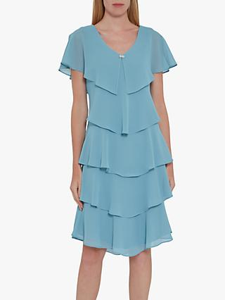 Gina Bacconi Ysela Tiered Dress, Slate
