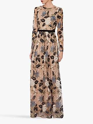 Gina Bacconi Sherri Sequin Maxi Dress, Multi