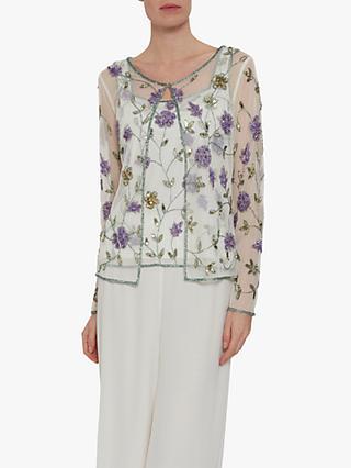 177193fae378f Gina Bacconi Lana Embellished Floral Top