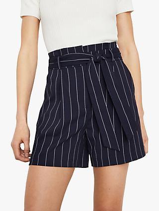Warehouse Stripe Shorts, Blue