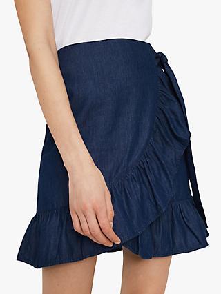1aa8186d1d7a Warehouse Ruffle Mini Wrap Skirt