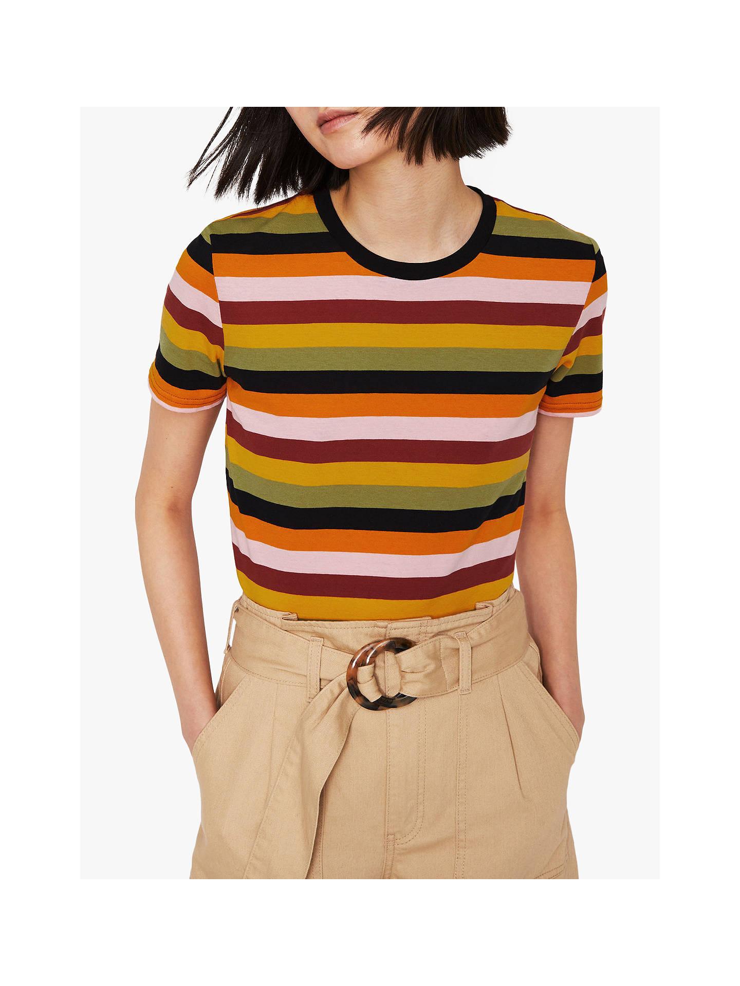 7cea960d59 Buy Warehouse Multi Stripe Cotton T-Shirt