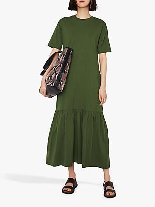 1c99ec92a89ed6 Warehouse T-Shirt Tiered Maxi Dress