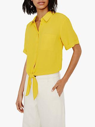 d8e6f24d9e6c4 Warehouse Tie Front Short Sleeve Shirt