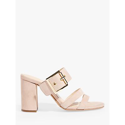 Karen Millen Slip-On Suede Heeled Sandals