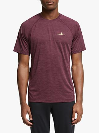 Ronhill Momentum Short Sleeve Running Top, Fig Marl