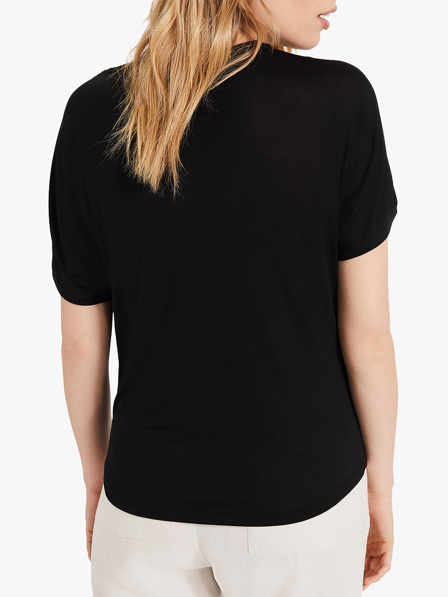 Buy Phase Eight Electra Eyelet Top, Black, 12 Online at johnlewis.com