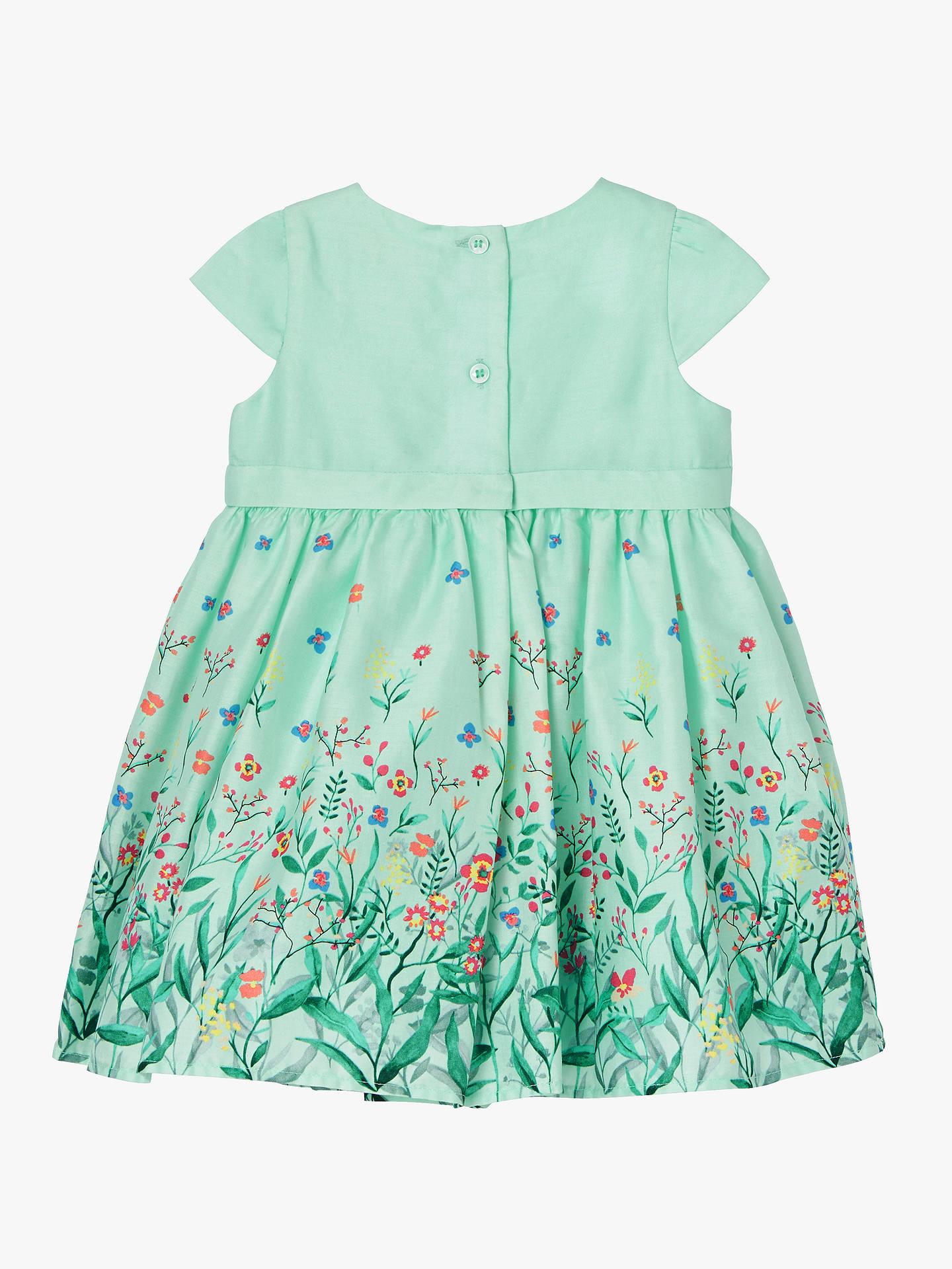 9d8711adb ... Buy John Lewis & Partners Baby Floral Border Dress, Mint, 0-3 months ...