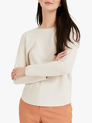 Phase Eight Leia Textured Knit Jumper, Cream