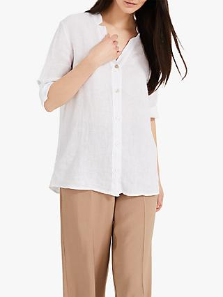 Phase Eight Elen Linen Shirt, White