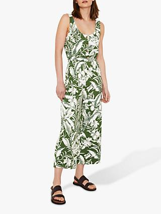 74009578952 Warehouse Tropical Button Through Jumpsuit
