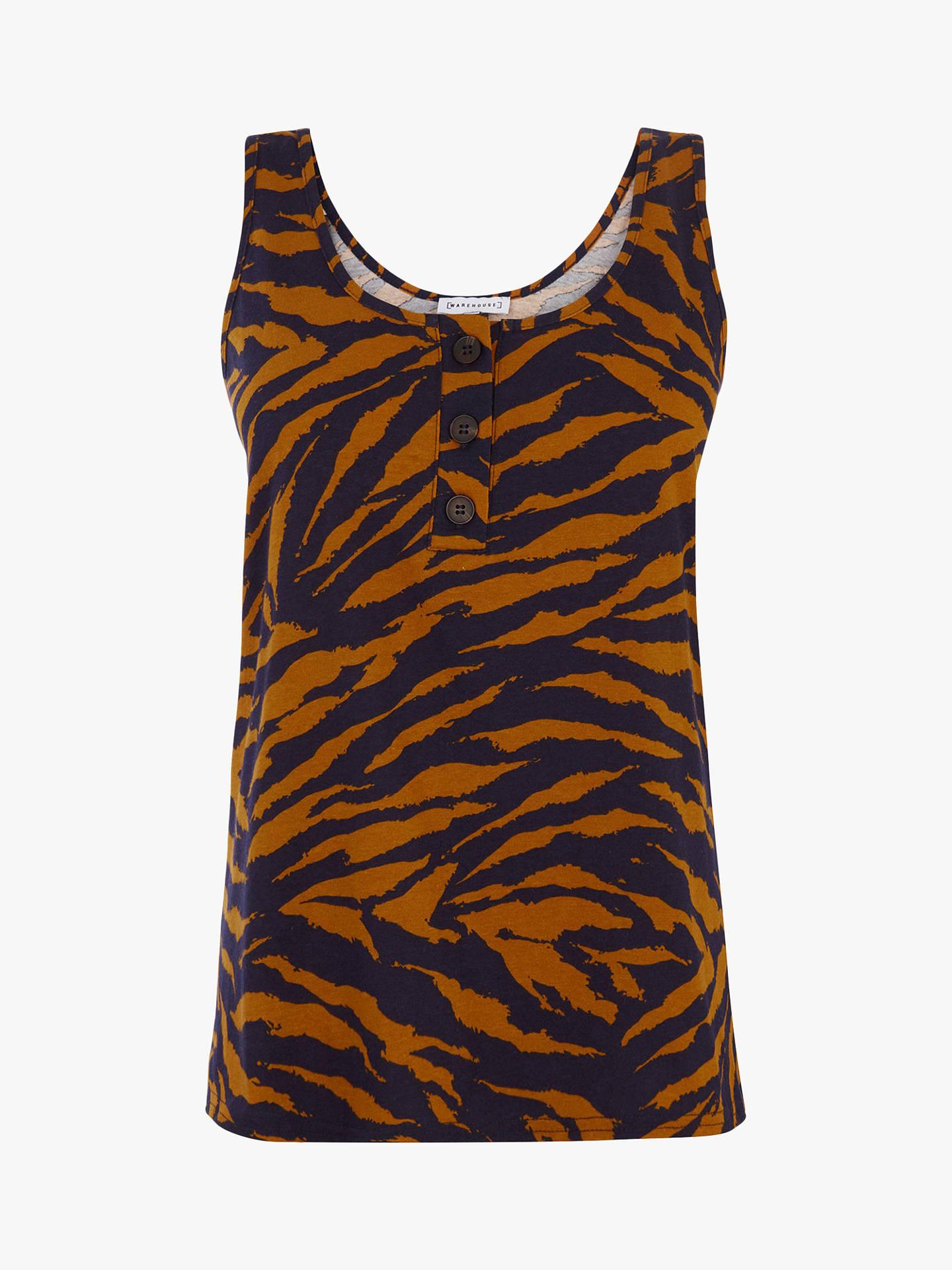 6954d3568ea4e7 ... Buy Warehouse Tiger Print Vest Top, Multi, 10 Online at johnlewis.com  ...