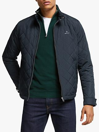 GANT Quilted Windcheater Jacket, Evening Blue