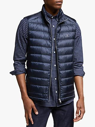 GANT Light Down Gilet, Navy