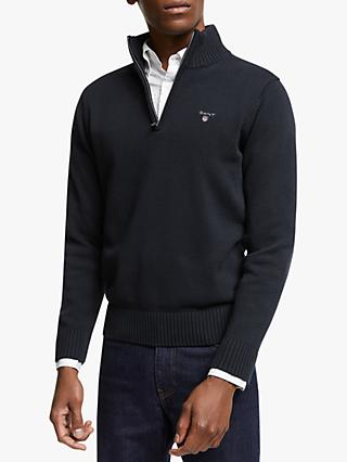 GANT Casual Cotton Half-Zip Piqué Sweatshirt