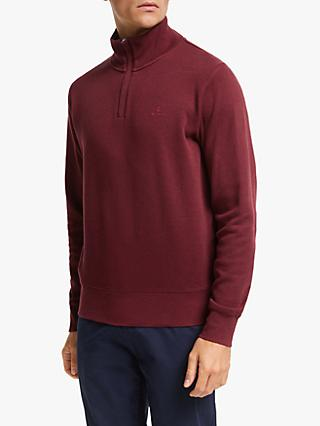GANT Sacker Rib Half Zip Sweatshirt