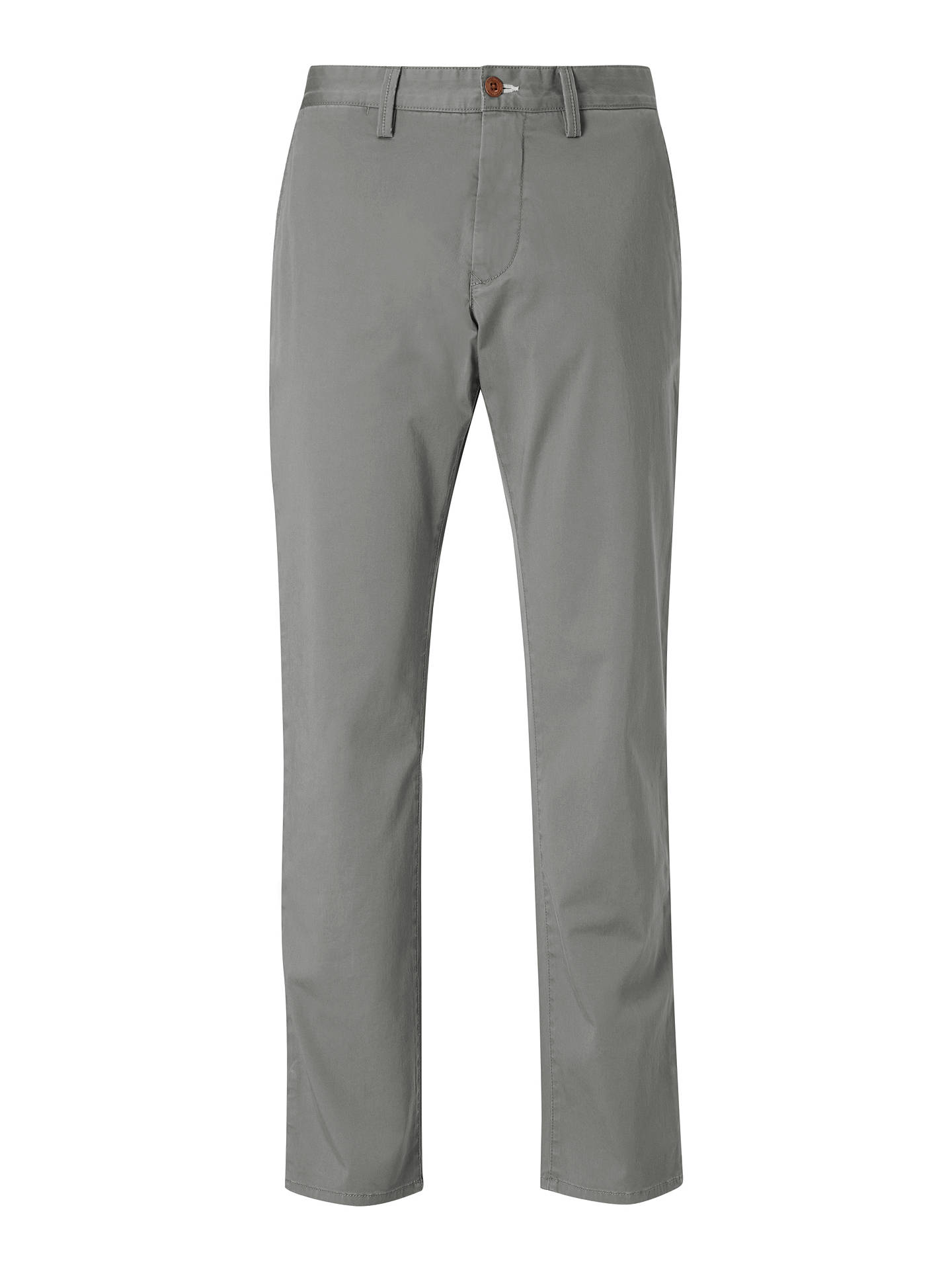 Buy GANT Regular Twill Chino Trousers, Grey, 36R Online at johnlewis.com