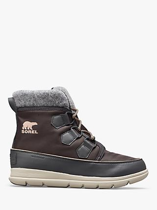 Sorel Explorer Lace Up Ankle Snow Boots, Dark Slate