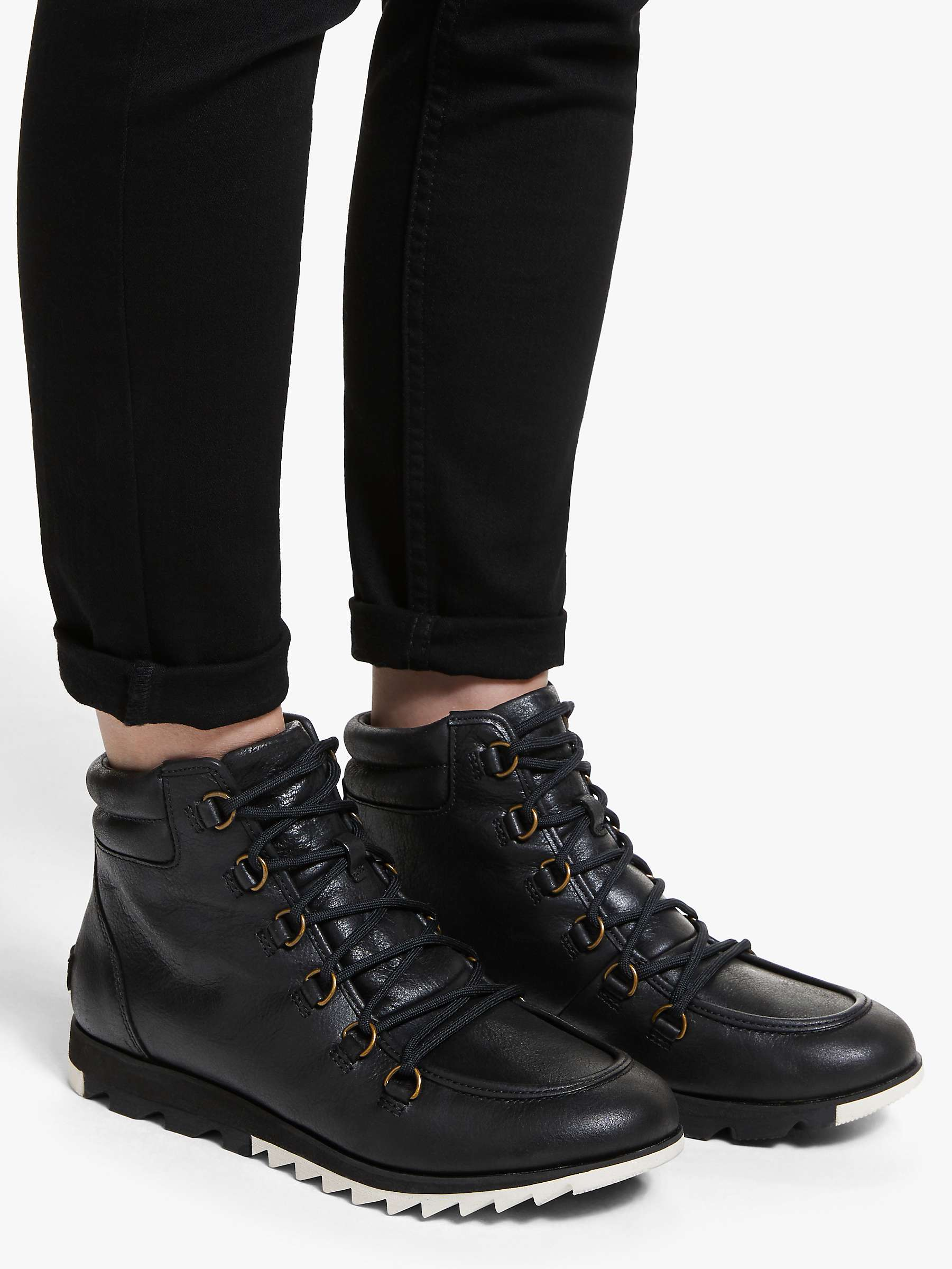 casual shoes best supplier new concept Sorel Harlow Lace Up Snow Boots, Black