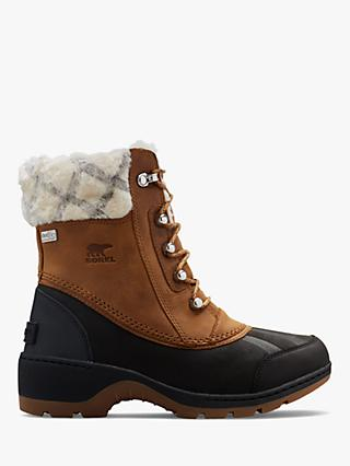 Sorel Whistler Mid 2 Lace Up Snow Boots, Camel Brown