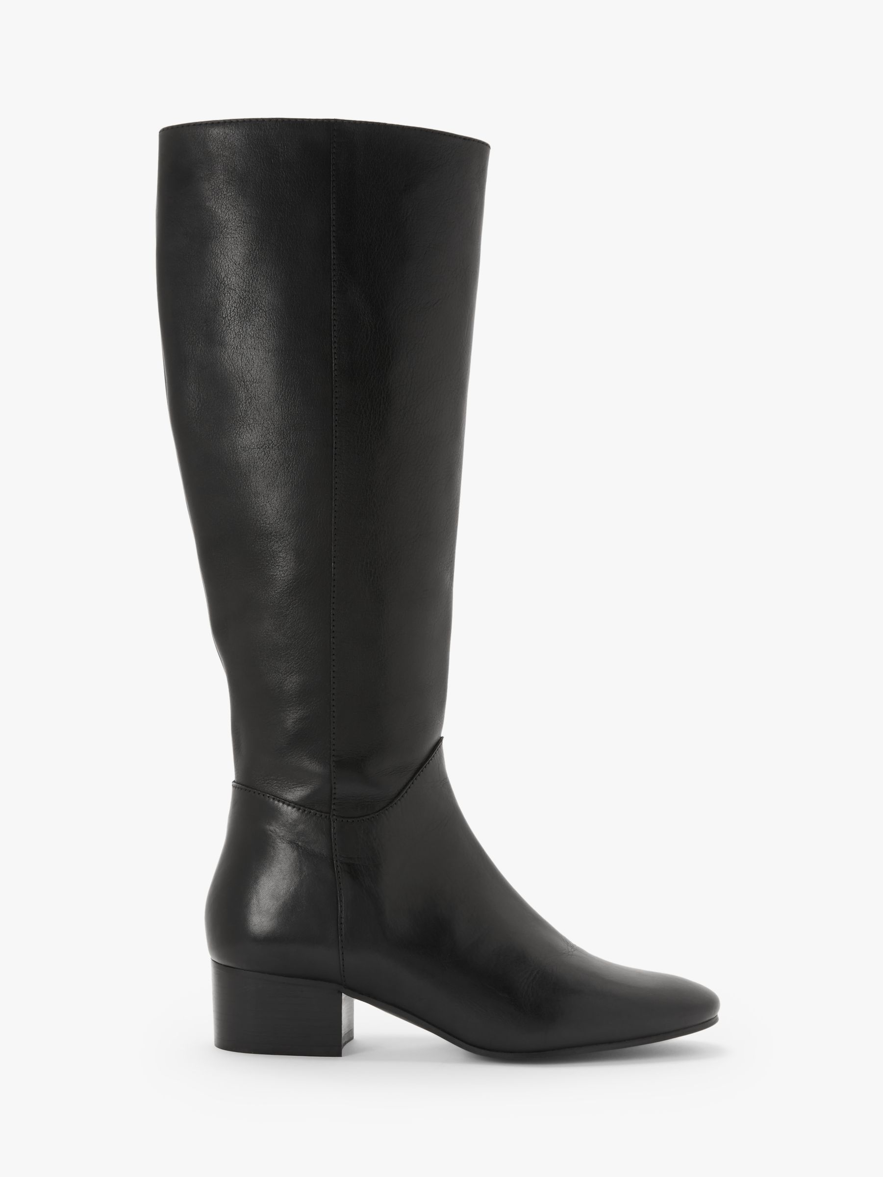 Kin Kin Tammi Leather Knee Boots, Black