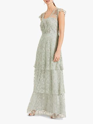 Phase Eight Rai Beaded Dress, Mint