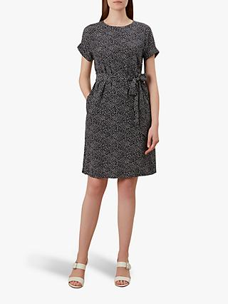 Hobbs Wendy Dress, Navy/White