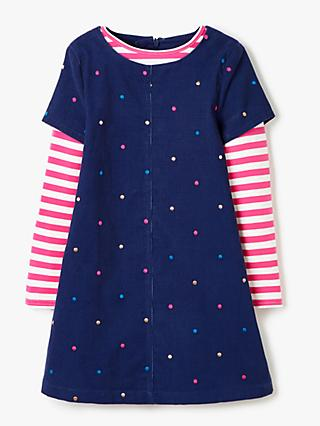 John Lewis & Partners Girls' Pinafore Dress Set, Navy