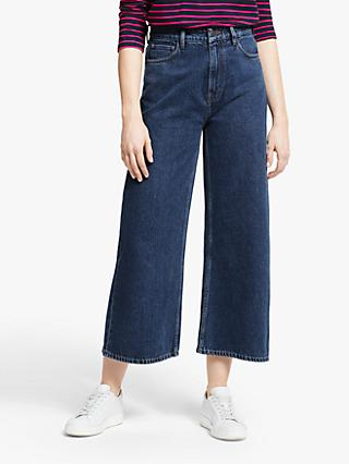 People Tree Ariel Wide Leg Jeans, Stone Bleach Wash