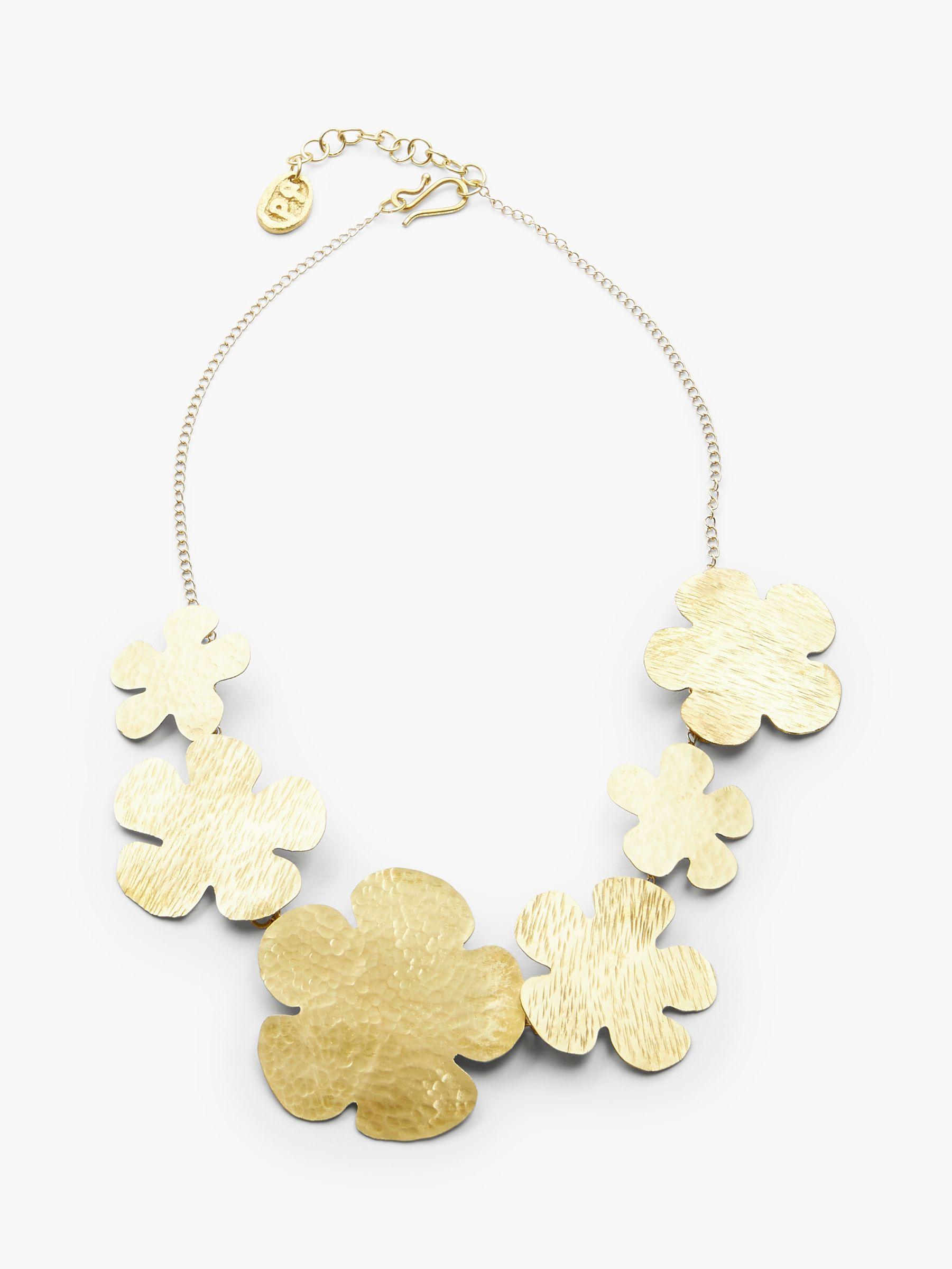 People Tree People Tree Daisy Brass Necklace, Brass