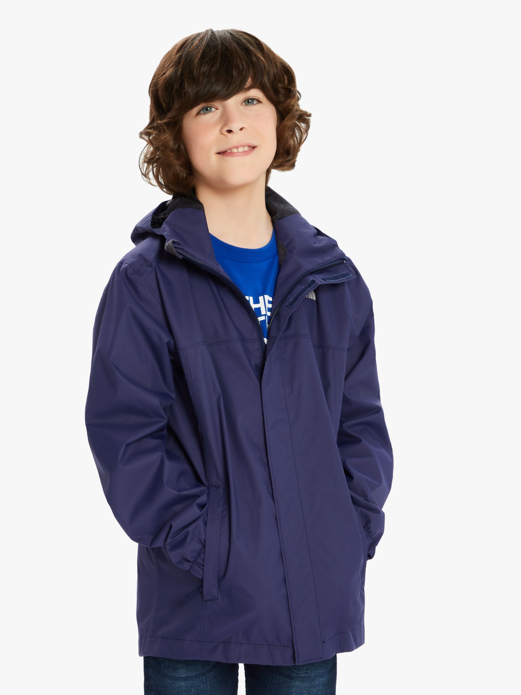 The North Face The North Face Boys' Resolve Reflective Jacket, Montague Blue