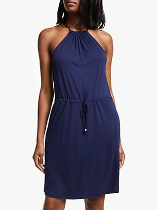 John Lewis & Partners Tie Waist Racer Back Sundress, Navy