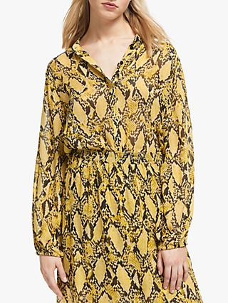 Second Female Snake Print Shirt, Chai Tea