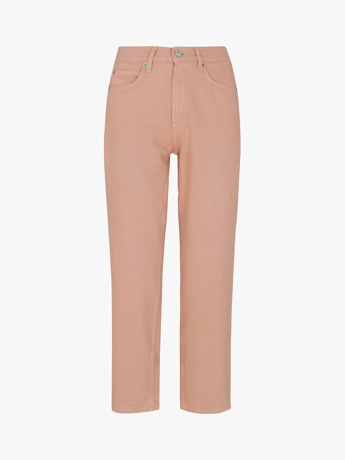 Buy Whistles Hollie Straight Leg Jeans, Pale Pink, 26 Online at johnlewis.com