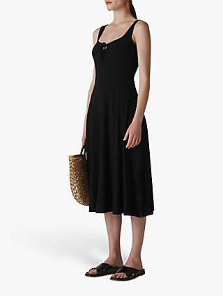 Whistles Brigitte Jersey Dress, Black